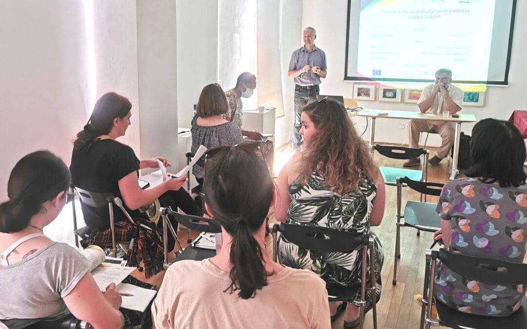 Izvajalci projektov so na sestanku ugotavljali, da bodo mogoča številna koristna in zanimiva sodelovanja. Foto: SLOGA
