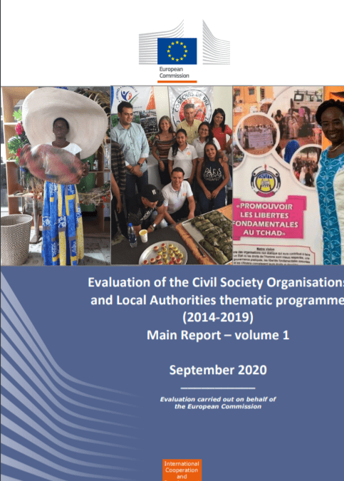 Evaluation of the Civil Society Organisations and Local Authorities thematic programme (2014-2019)
