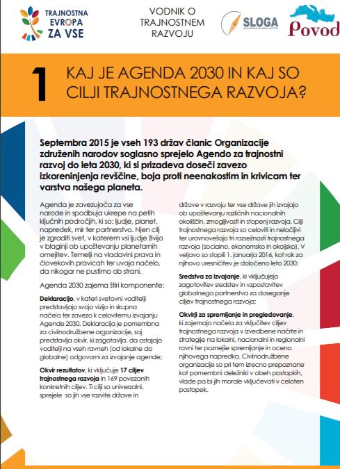 Kaj je Agenda 2030 in kaj so cilji trajnostnega razvoja?
