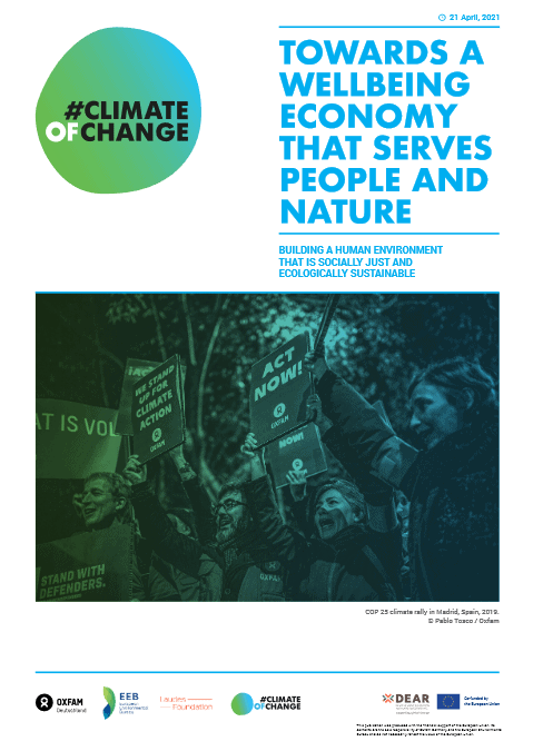 Towards a wellbeing economy that serves people and nature: Building a human environment