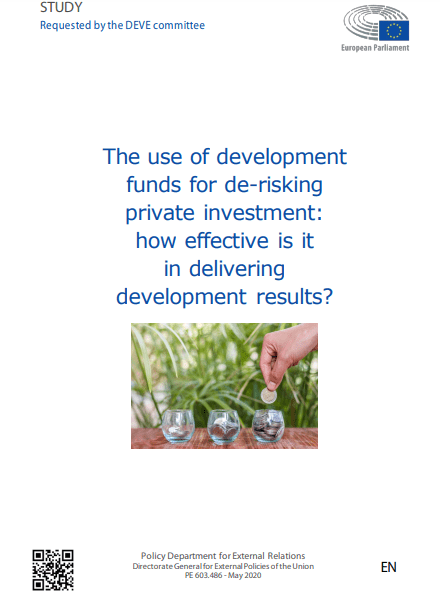 The use of development funds for de-risking private investment: how effective is it in delivering development results?