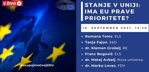 Stanje v Uniji: Ima EU prave prioritete?