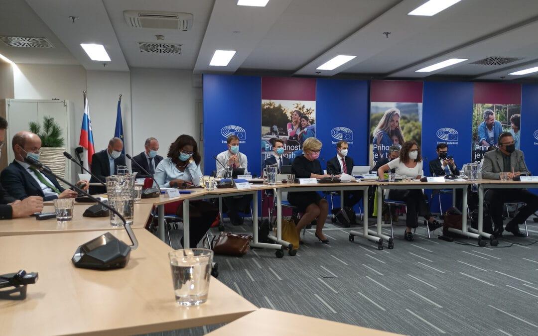 Mirovni inštitut na pogovoru z misijo Evropskega parlamenta